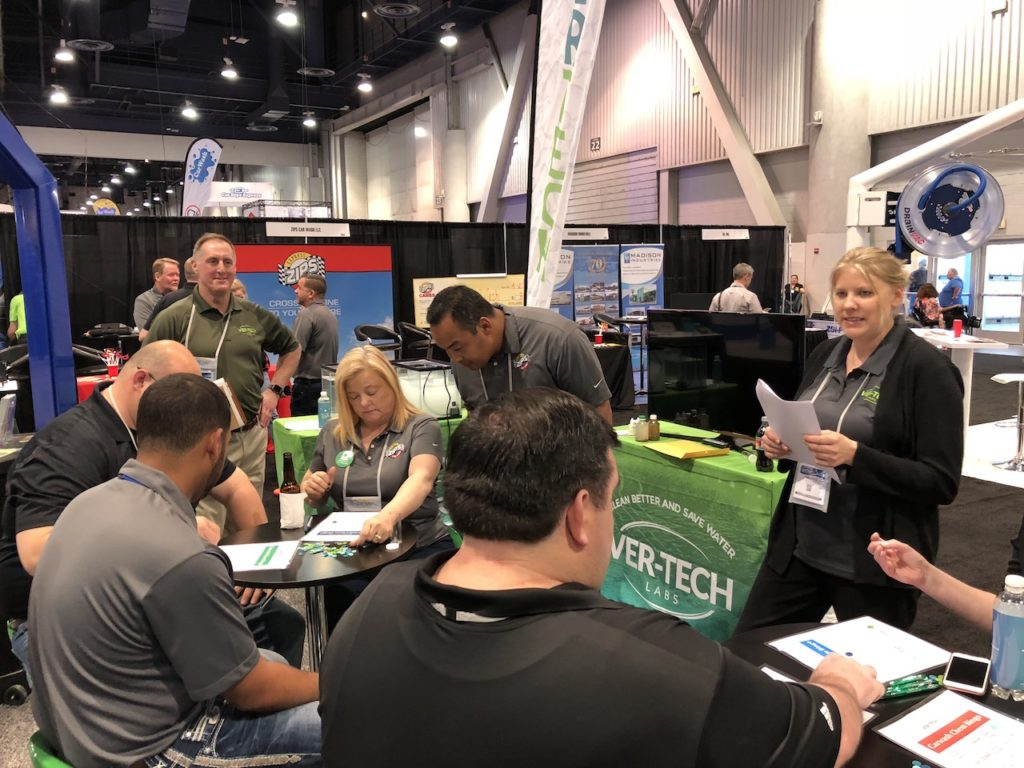Ver-tech Labs, #gocarwashshow, Tony vertin, Harrison Hemphill, car wash show, carwashing chemicals