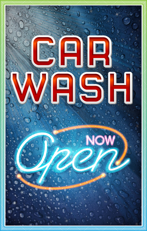 Car Wash Signage Ver Tech Labs